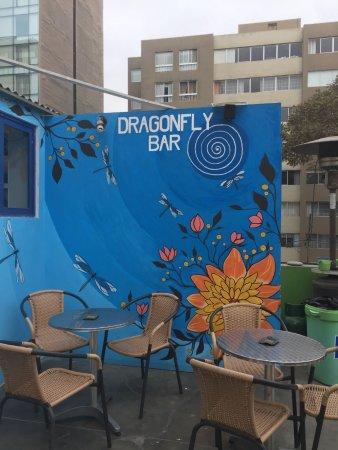 Dragonfly Hostels: Cour intérieure au 3e étage, où sont servis les petits-déjeuners