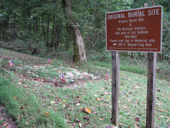 Civil War Fort Duffield: General burial site