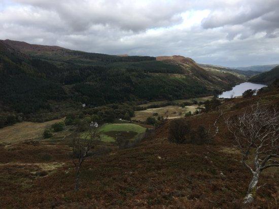 Capel Curig, UK: View towards Llyn Crafnant