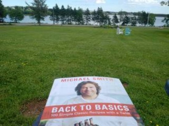 Bay Fortune, Canada: Brought along a favourite cookbook...