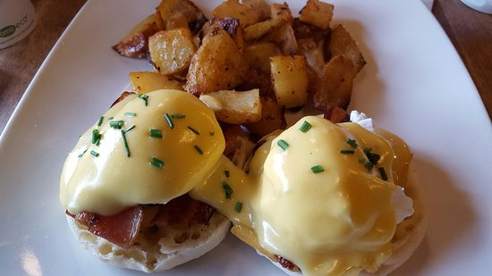 Wendel's Bookstore & Cafe: Great eggs benedict with bacon - definitely a thumbs up! Many other great choices as well.