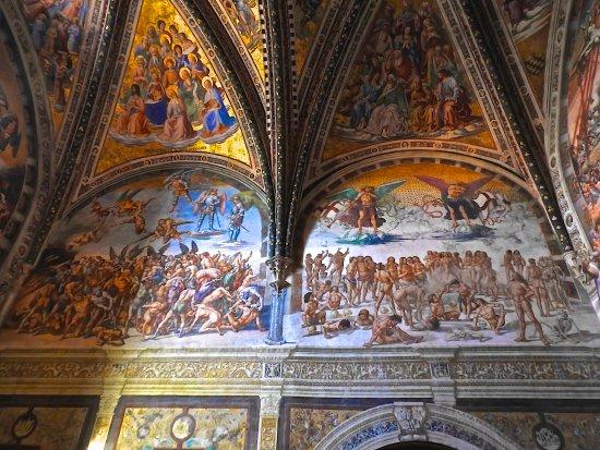 Castiglione del Lago, Italia: The Chapel of San Brizio in the Duomo in Orvieto