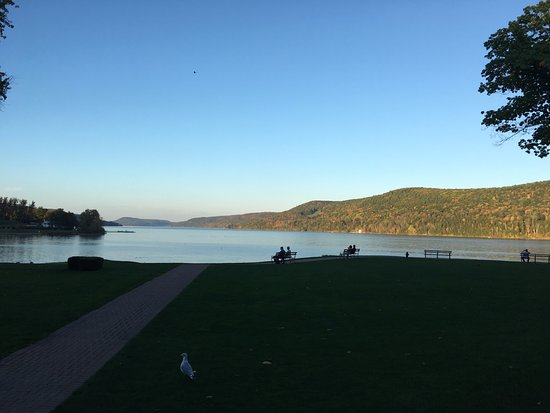 The Otesaga Resort Hotel: View from the outdoor fire pit