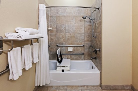 Efficient ADA/Handicapped Transfer Shower - Picture of Holiday Inn ...