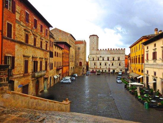 Todi, Italy: The Piazza del Popolo, June 2017 about 2 PM