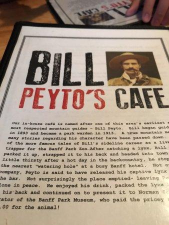 Bill Peyto S Cafe Menu