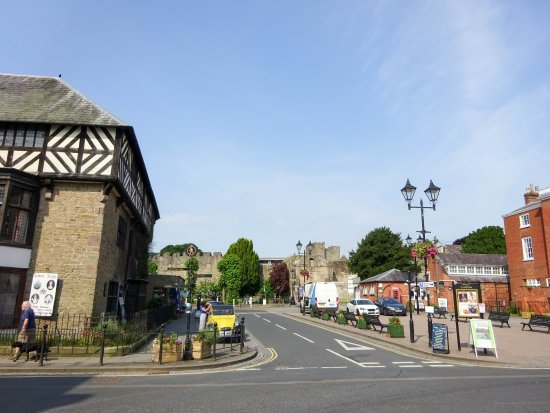 Approaching Ludlow Castle from the town