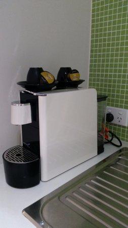 Abode Gungahlin: Kitchenette Appliances   Coffee Machine.