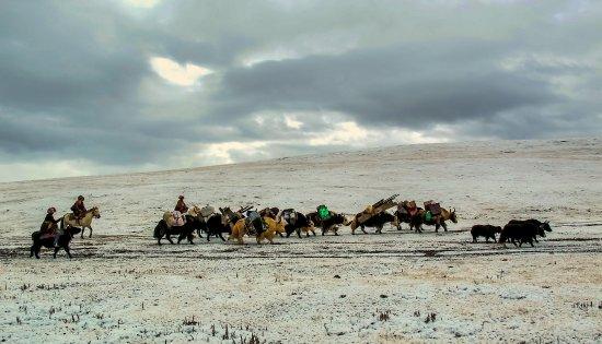 Xiahe County, Kina: Nomadic tours in Golok area.