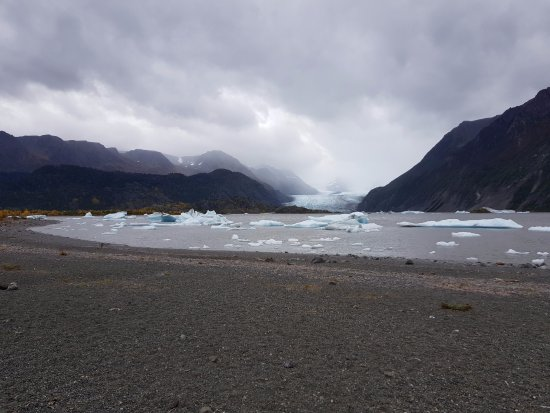 Kachemak Bay State Park: Grewingk Glacier Lake (Anfang Oktober)