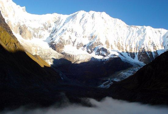 Bagmati Zone, เนปาล: Annapurna I from Annapurna Base Camp.