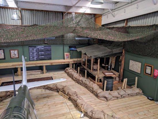 Papakura, New Zealand: Diorama of Newton Field displayingP40 Kittyhawk