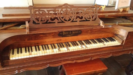 Grove Hill, AL: Rosewood Square Piano at Clarke County Museum