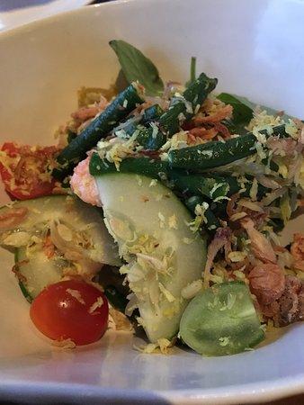 """Sambal Shrimp: shrimp """"urab"""" salad"""