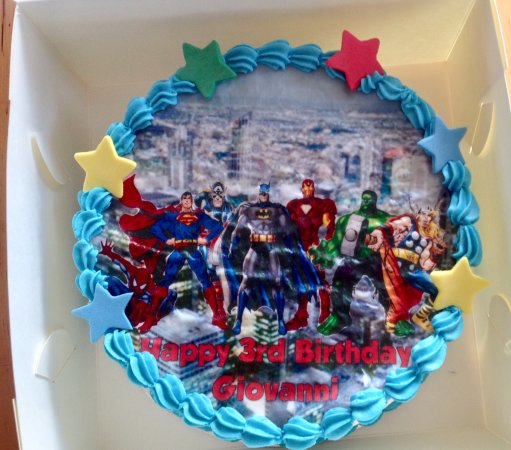 Remarkable Superhero Birthday Cake Picture Of My Little Cupcake Sydney Personalised Birthday Cards Bromeletsinfo