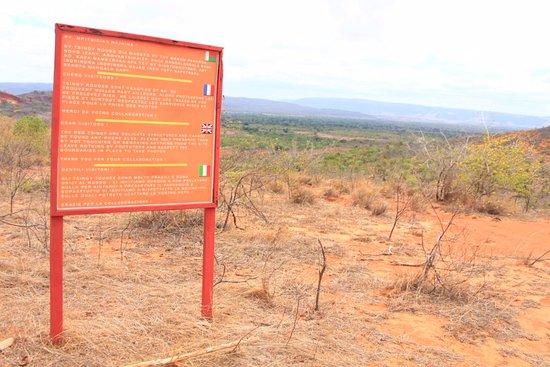 Antsiranana (Diego Suarez), Madagascar: the sign at the Red Tsingy or Tsingy Rouge
