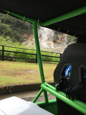 Gros Islet, St. Lucia: We had a great time going into a volcano.