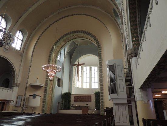 Kallio Church: Looking to the altar