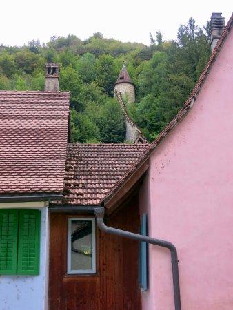 Hotel - Restaurant La Couronne: Hotel de la Couronne: View from Bathroom