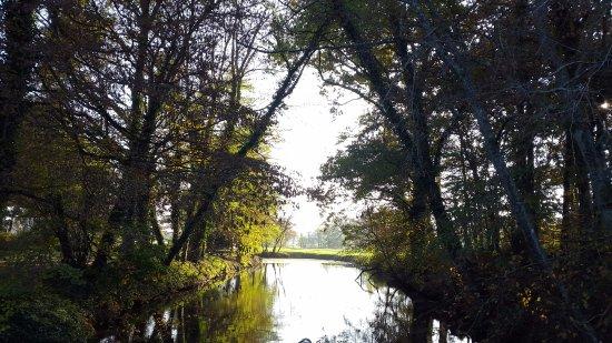 Monthieux, Frankreich: vue sur les douves