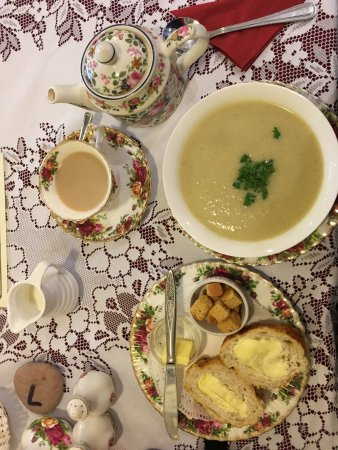 Budleigh Salterton, UK: Potato and leek soup