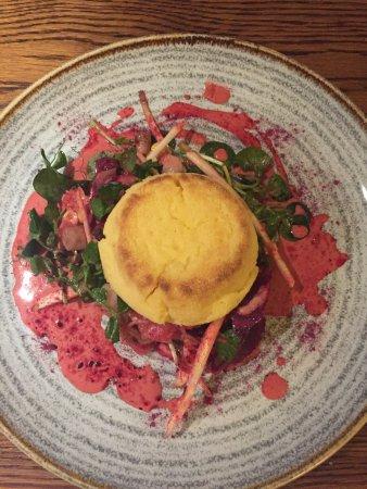 Bradford-on-Avon, UK: Cheese soufflé