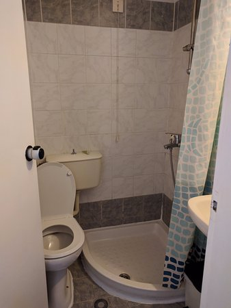 Cecil Hotel: room 104 bathroom with everything you need