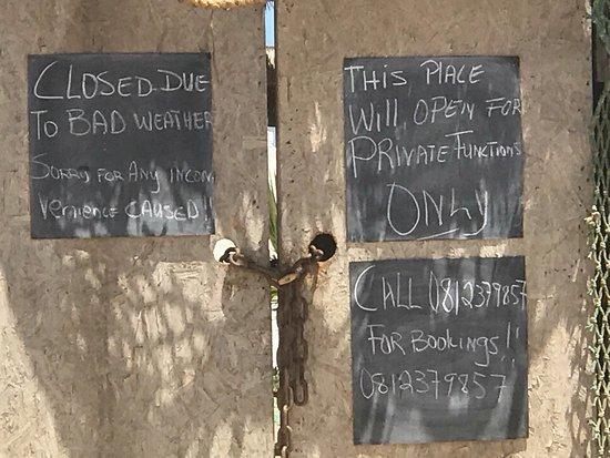 Erongo région, Namibie : War leider geschlossen 😐