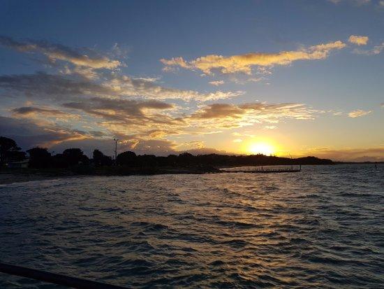 Sunset Rye pier