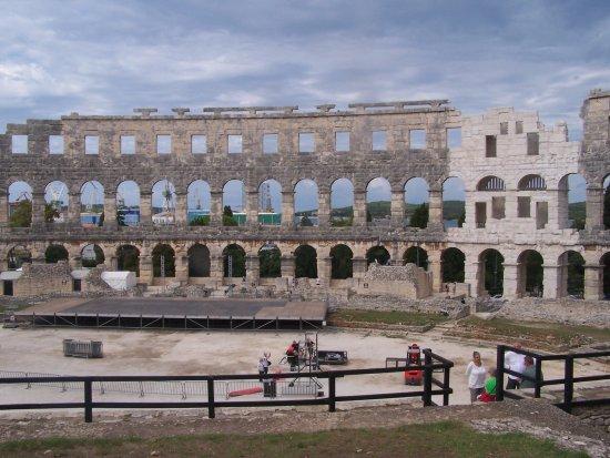 Inside the Pula Arena