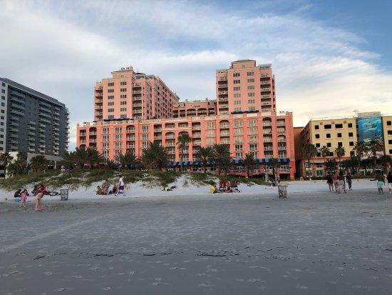 Hyatt Regency Clearwater Beach Resort & Spa: Hotel looks grand from the beach.