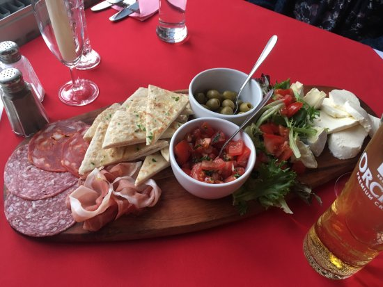 Tiverton, UK: Anti pasti or mixed starter. Very good value at £7 for two. Very tasty.