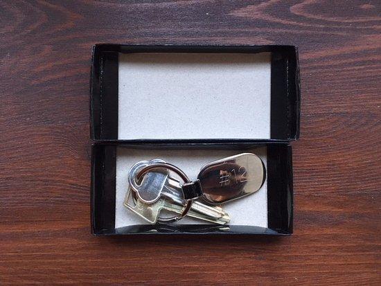 Borgarnes, Iceland: The room keys