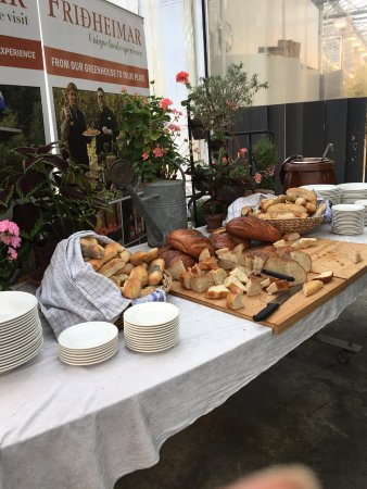 bread spread by the bar --breads were dry