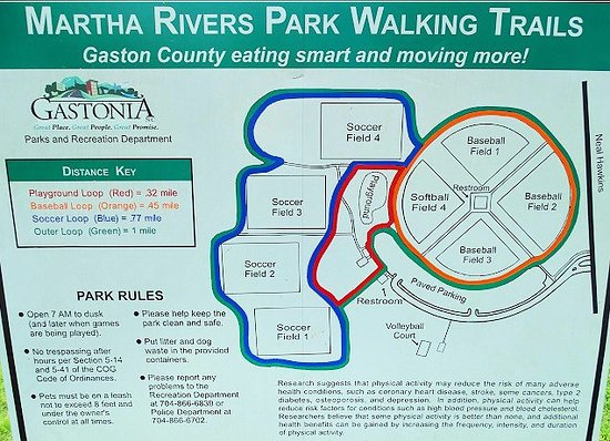 map of park Picture of Martha Rivers Park Gastonia TripAdvisor