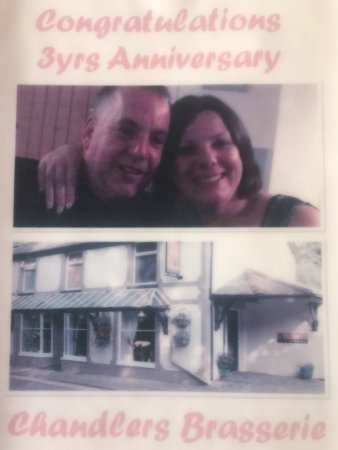 Trefriw, UK: Arwel & Anna celebrating 3yrs in business