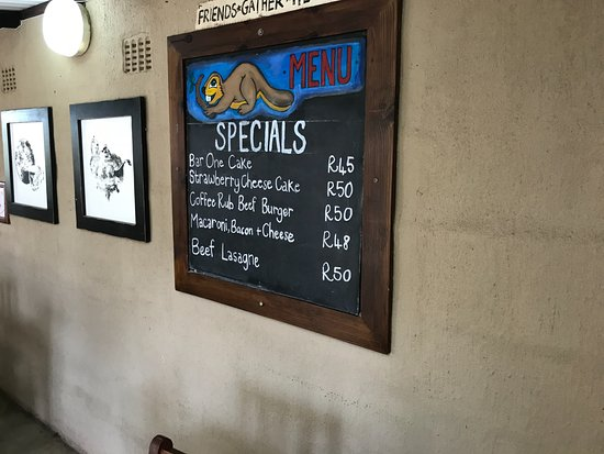 Port Edward, South Africa: specials for the day
