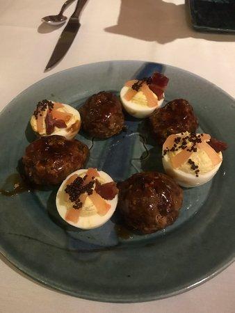 Lebanon, TN: Pork Belly Meat balls and Deviled Eggs