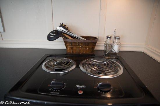 Philo, CA: Two burner electric stove