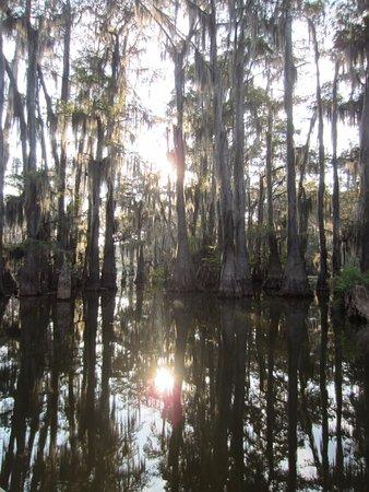 Uncertain, Техас: Sundown at Caddo Lake.