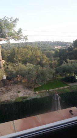 Simiane-Collongue, France: Vue depuis la chambre sur la campagne de Simiane et vue sur le jardiin