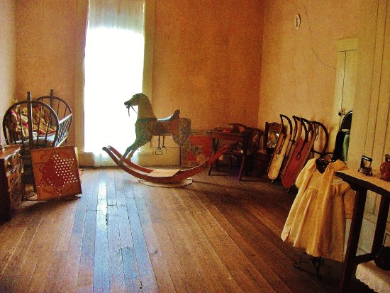 Gresham, OR: back of upstairs hallway with rocking horse