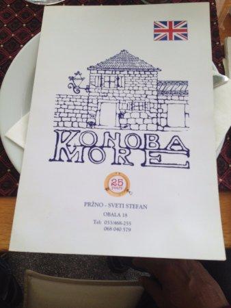 Przno, Montenegro: menü