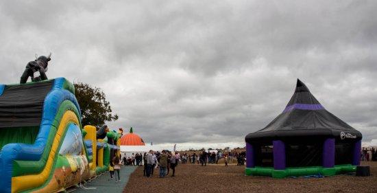 Bury St. Edmunds, UK: Bouncy castles for children