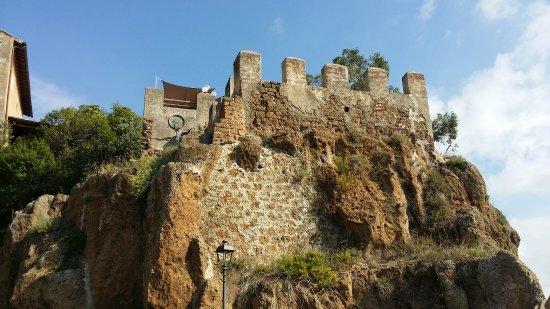 Ceri, Itália: Perticolare delle mura