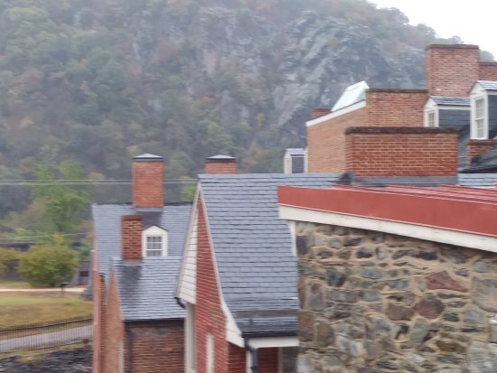 Harpers Ferry, WV: mountain view from the church steps