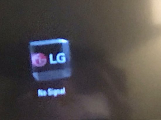 "Dolce Hayes Mansion: The view you'll have of the tv: ""LG No Signal"""