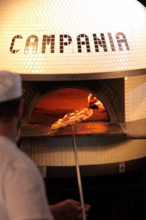 Alpharetta, GA: Our imported Stefano Ferrara oven, the center piece of our dining room.