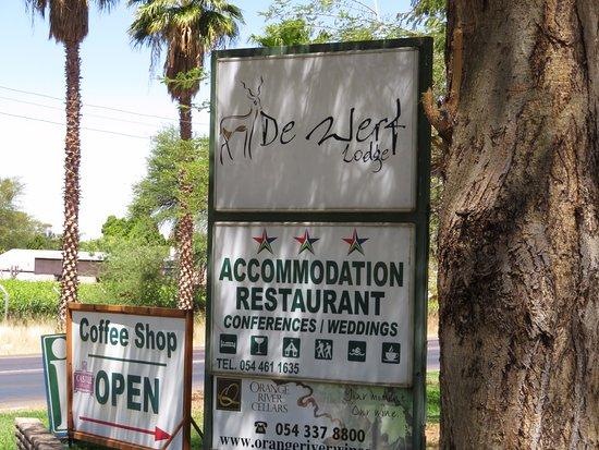 Keimoes, Afrika Selatan: Road sign