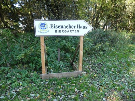 Erbenhausen, Tyskland: Hinweisschild